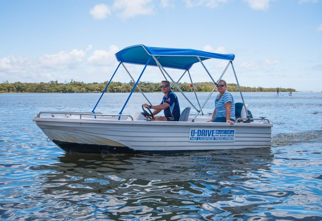 A boat available for Sup board hire on the Sunshine Coast